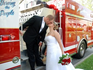 wedding at fire station